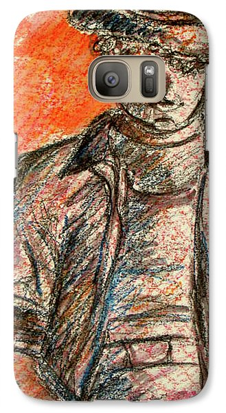 Galaxy Case featuring the painting Boy In Red by Cathie Richardson