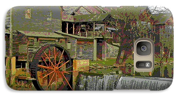 Galaxy Case featuring the photograph By The Old Mill Stream by Larry Bishop
