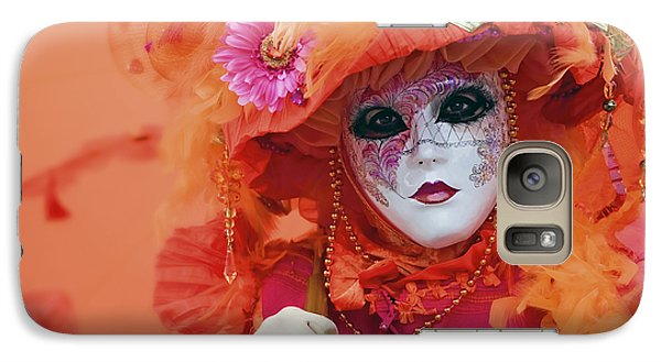 Galaxy Case featuring the photograph Carnival In Orange by Stefan Nielsen