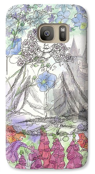 Galaxy Case featuring the painting Celestial Castle by Cathie Richardson