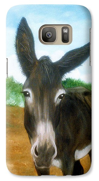 Galaxy Case featuring the painting Chimayo Mule by Jan Amiss