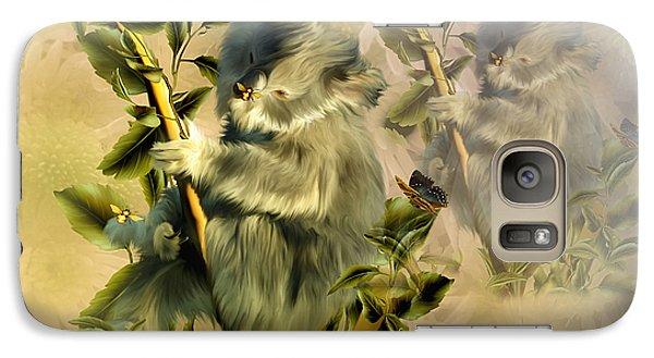 Galaxy Case featuring the digital art Cuddly Koalas by Elaine Manley