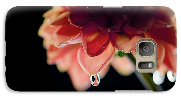 Galaxy Case featuring the photograph Dahlia And Drop by Stefan Nielsen