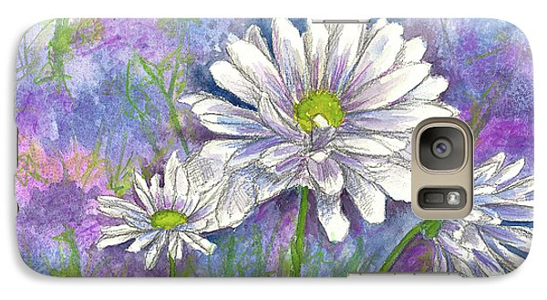 Galaxy Case featuring the painting Daisy Three by Cathie Richardson
