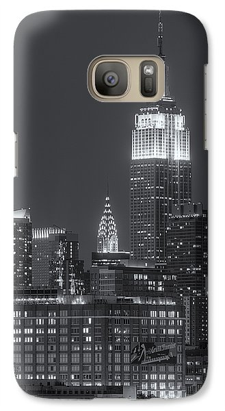 Empire State And Chrysler Buildings At Twilight II Galaxy S7 Case
