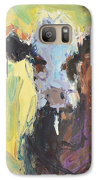 Galaxy Case featuring the painting Expressive Cow Artwork by Robert Joyner