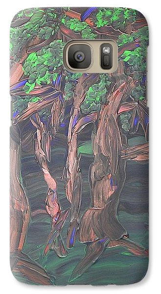Galaxy Case featuring the painting Forest by Joshua Redman