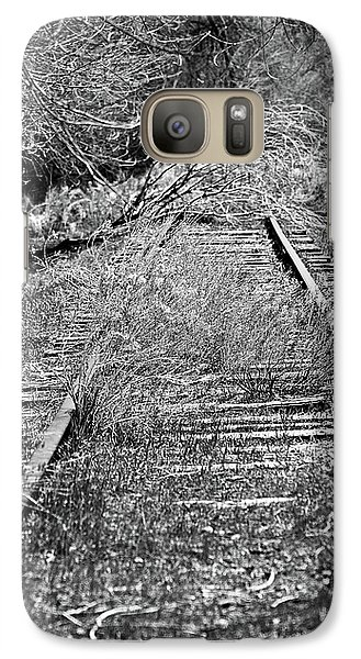 Galaxy Case featuring the photograph Ghost Rail by Juls Adams