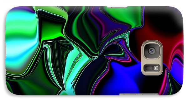 Galaxy Case featuring the digital art Green Nite Distortions 4 by Greg Moores