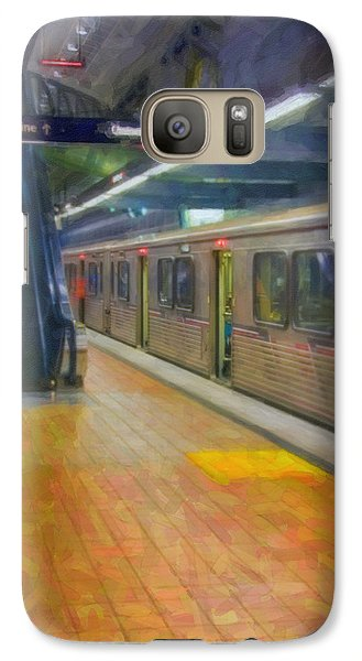 Galaxy Case featuring the photograph Hollywood Subway Station by David Zanzinger