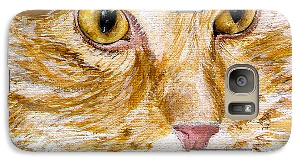 Galaxy Case featuring the painting Leo by Mary-Lee Sanders