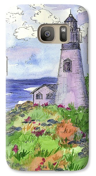 Galaxy Case featuring the painting Lighthouse In Summer  by Cathie Richardson