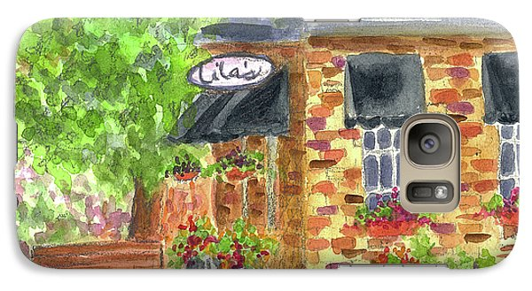 Galaxy Case featuring the painting Lila's Cafe by Cathie Richardson