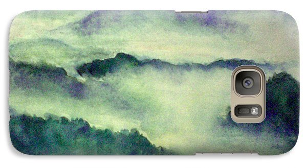 Galaxy Case featuring the painting Mountain Oriental Style by Yoshiko Mishina