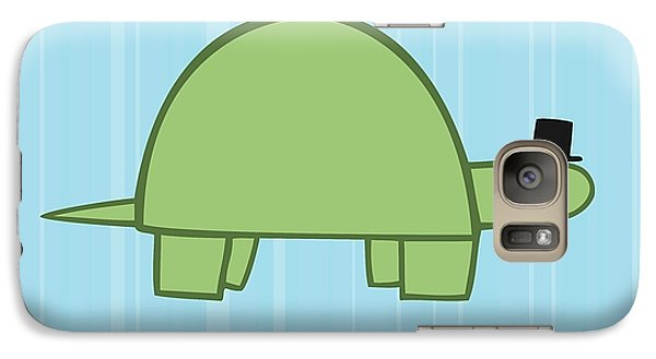 Nursery Art Boy Turtle Galaxy S7 Case by Christy Beckwith