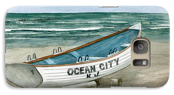 Galaxy Case featuring the painting Ocean City Lifeguard Boat by Nancy Patterson