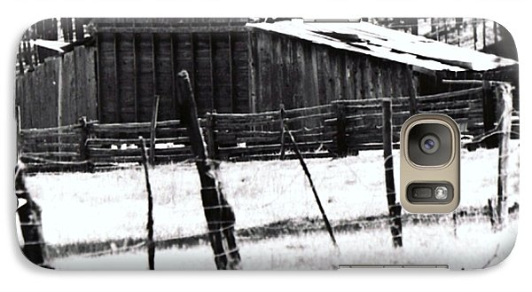 Galaxy Case featuring the photograph Old Barn Alpine Az  by Juls Adams