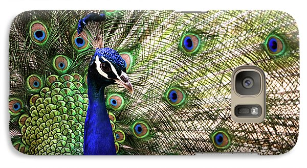 Galaxy Case featuring the photograph Peacock by Stefan Nielsen