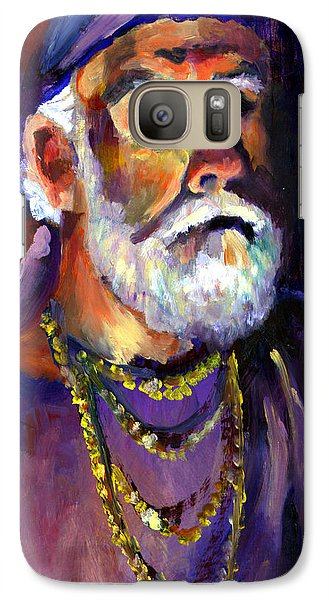 Galaxy Case featuring the painting Pirate Bob by Nada Meeks