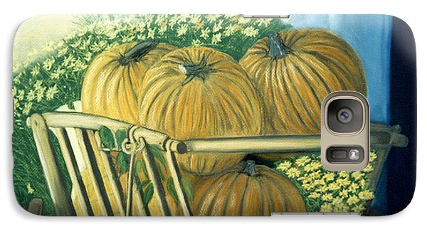 Galaxy Case featuring the pastel Pumpkin Cart In Boerne by Jan Amiss