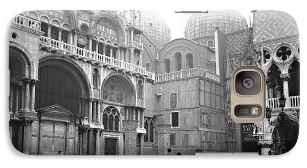 Galaxy Case featuring the photograph San Marco Piazza And Basilica In Venice by Emanuel Tanjala