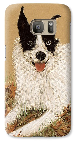 Galaxy Case featuring the pastel Scooter The Jack Russell by Jan Amiss