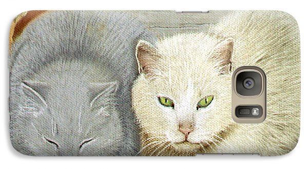 Galaxy Case featuring the pastel Soft And Fluffy by Jan Amiss