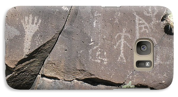 Galaxy Case featuring the photograph South Fork Petroglyphs by Juls Adams