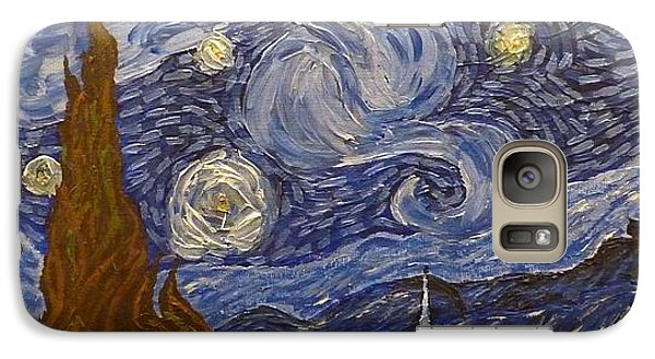 Galaxy Case featuring the painting Starry Night - An Ode To Vincent by Joshua Redman