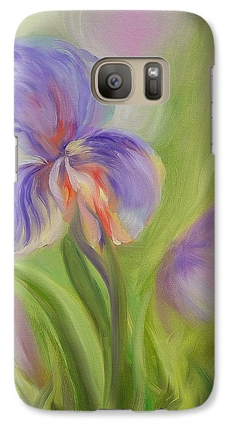 Galaxy Case featuring the painting Tennessee Iris Two by Carol Berning