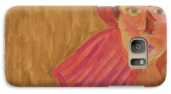 Galaxy Case featuring the painting The Woman In Red by Joshua Redman