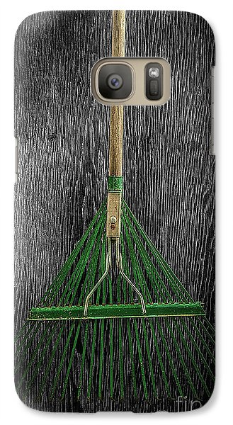 Galaxy Case featuring the photograph Tools On Wood 10 On Bw by YoPedro