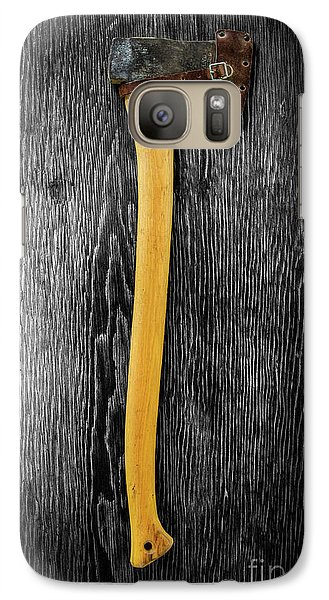 Galaxy Case featuring the photograph Tools On Wood 11 On Bw by YoPedro