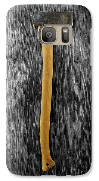 Galaxy Case featuring the photograph Tools On Wood 12 On Bw by YoPedro
