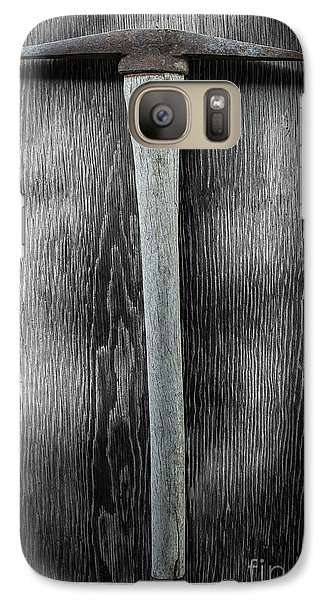 Galaxy Case featuring the photograph Tools On Wood 13 On Bw by YoPedro