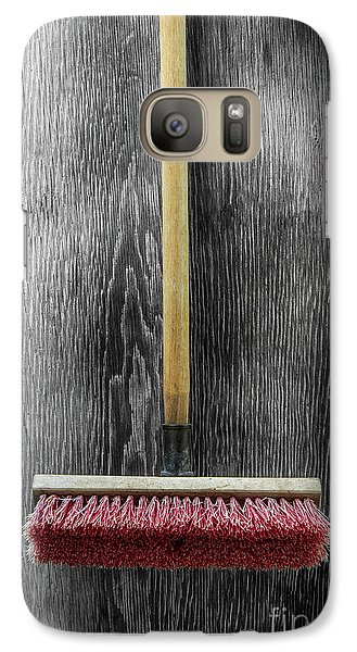 Galaxy Case featuring the photograph Tools On Wood 14 On Bw by YoPedro