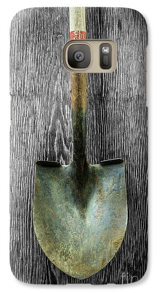 Galaxy Case featuring the photograph Tools On Wood 15 On Bw by YoPedro