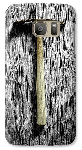 Galaxy Case featuring the photograph Tools On Wood 16 On Bw by YoPedro