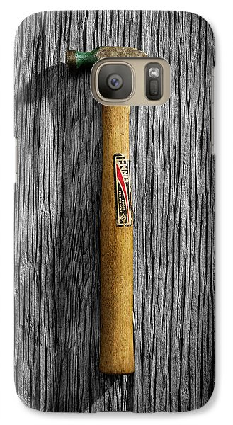 Galaxy Case featuring the photograph Tools On Wood 17 On Bw by YoPedro