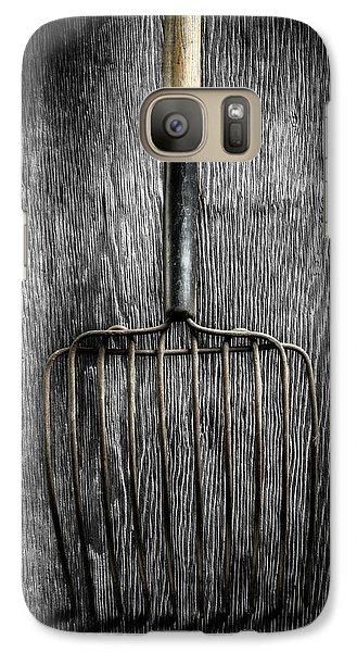 Galaxy Case featuring the photograph Tools On Wood 25 On Bw by YoPedro