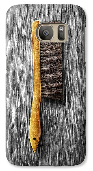 Galaxy Case featuring the photograph Tools On Wood 52 On Bw by YoPedro