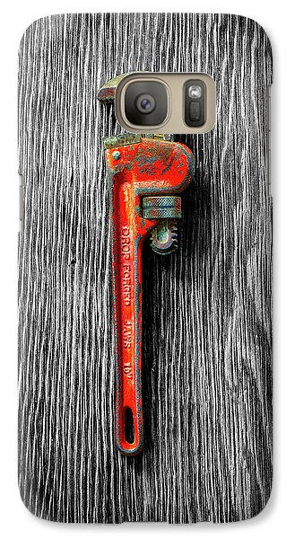 Galaxy Case featuring the photograph Tools On Wood 62 On Bw by YoPedro