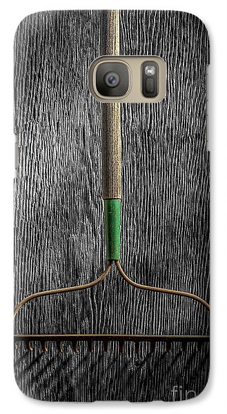 Galaxy Case featuring the photograph Tools On Wood 8 On Bw by YoPedro
