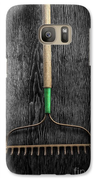 Galaxy Case featuring the photograph Tools On Wood 9 On Bw by YoPedro