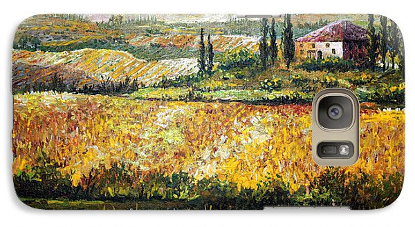 Galaxy Case featuring the painting Tuscan Wheat by Lou Ann Bagnall