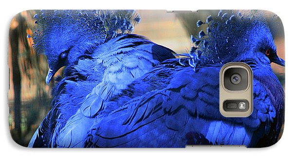 Galaxy Case featuring the photograph Two Blue by Terry Cork