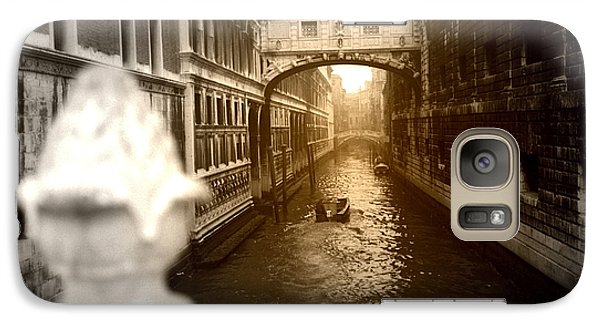 Galaxy Case featuring the photograph Venice Canal With Sunlight by Emanuel Tanjala