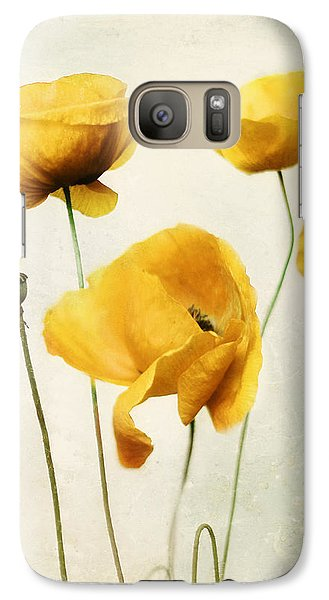 Galaxy Case featuring the photograph Yellow Poppies - Square Version by Amy Tyler