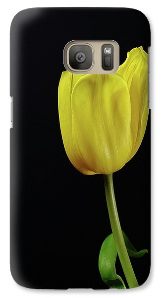 Galaxy Case featuring the photograph Yellow Tulip by Dariusz Gudowicz