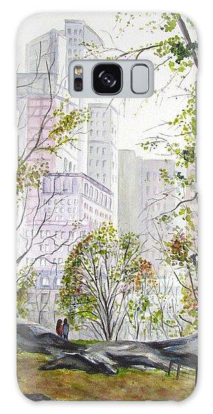 Central Park Stroll Galaxy Case by Clara Sue Beym